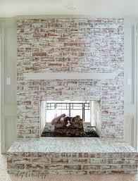 painted brick fireplace and mantel diybeautify com