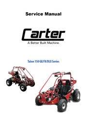 carter brothers manuals carter talon 150 dlx fx gx service manual