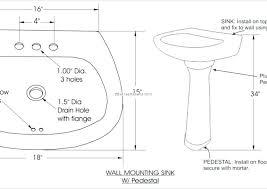 beautiful sink drain rough in height shower control rough in standard pedestal pedestal sink rough in