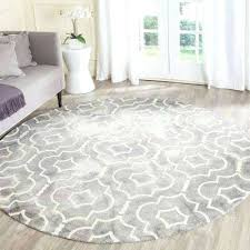 7 round area rugs dip dye grey ivory 7 ft x 7 ft round area rug