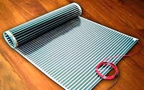 heated area rug under heating pad office floor mats mat desk electric excellent how to install