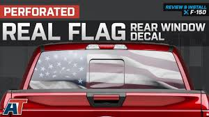 1997-2018 F150 American Muscle Graphics Perforated Real Flag Rear ...