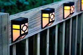 outdoor solar lighting ideas. Charming Outdoor Solar Light Fixtures Fence Lighting Lights Ideas Post .