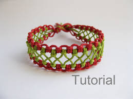 Macrame Bracelet Patterns Mesmerizing Macrame Bracelet Pattern Instructions Tutorial Knotonlyknots