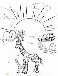 Small Picture safari coloring page 28 images safari animals coloring pages