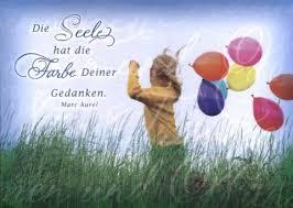 Foto Postkarte Spruch Die Seele Hat Die Farbe Deiner Gedanken