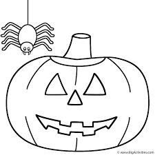 Small Picture PumpkinJack o Lantern with spider Coloring Page Halloween