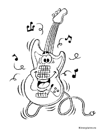 Muziekinstrumenten Kleurplaat 06253 Kleurplaat