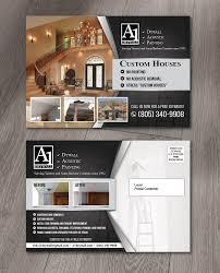 Interior Design Postcards Elegant Playful Residential Construction Postcard Design