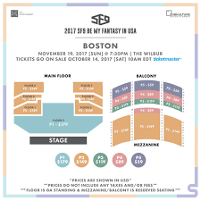 Seating Charts For 2017 Sf9 Be My Fantasy In Usa
