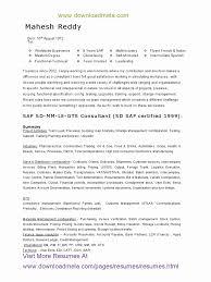 Sap Plm Resume Resume Template
