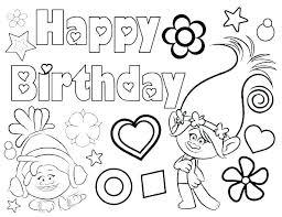 Happy Birthday Coloring Sheets I6893 Free Printable Happy Birthday