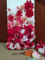 fake flower wall art diy