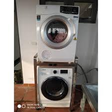 Kệ để máy giặt và máy sấy inox 304 hộp 400x400 để vừa tất cả các loại máy  giặt và máy sấy tại Hà Nội