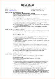 Cv Profile Examples Filename Handtohand Investment Ltd