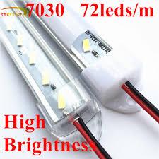 0.5M 36 Đèn LED 7030 LED Cứng Dây Thanh Đèn Hình Chữ U Nhôm Rãnh Vỏ Sữa Rõ  Ràng Bao DC 12 V 50 Cm 11W Đèn Led Thanh|Đèn LED Quán Bar