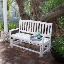 white glider bench