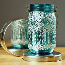 DIY Hand Painted Lantern | Cool Mason Jar Crafts You Can Do At Home
