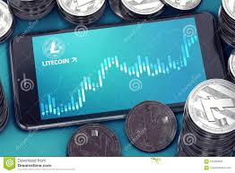 Litecoin Growth Chart Horizontal Oriented Smartphone With Litecoin Growth Chart On