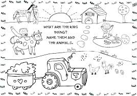 Free Farm Coloring Pages Printable Farm Coloring Pages Animal Free