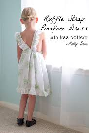 Apron Dress Pattern Extraordinary Ruffle Strap Pinafore Dresses With Free Pattern Melly Sews