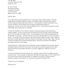 Sample Application Letter For Ojt Mechanical Engineering Students