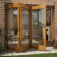 Bq It Kitchen Doors Oak Veneer Glazed Folding Sliding Patio Doors H2105mm W2405mm