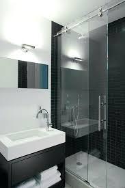 black tile shower sliding glass shower doors bathroom contemporary with black shower tile black black tile