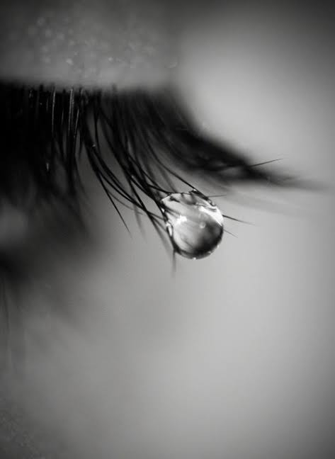 eyes full of tears and a heart full of pain