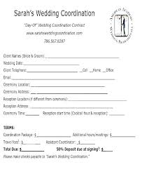 Free Wedding Planner Contract Templates Event Coordinator Contract Sample Template Planning Free
