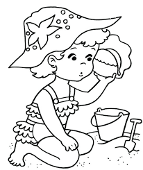 Kids Coloring Pages Summer Summer Beach Coloring Pages Summer