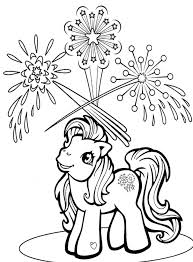 Small Picture My Little Pony See Fireworks Coloring Page Printables