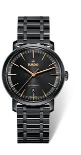 rado diamaster men s automatic black ceramic watch rado diamaster men s automatic black ceramic watch full size image