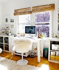 small home office storage. a desk looks great between two kallax low storage units small home office w