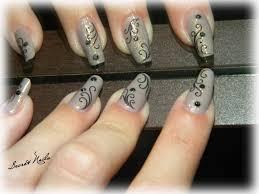 Gray And White Polka Dots And Hearts Design Nail Art