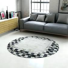 white jute rug round new black and ink cowhide carpet villa study custom stripe white jute rug
