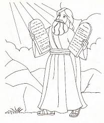 Moses Ten Commandments Coloring Pages Color Bros