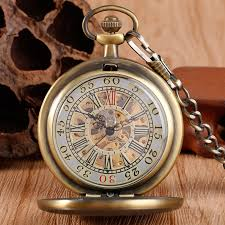popular wind up pocket watches buy cheap wind up pocket watches bronze mechanical watch hand wind pocket board plank pattern retro vintage antique style wind up pendant