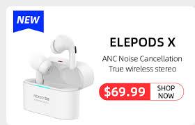 <b>ELEPHONE ELEPODS 1</b> TWS Earphone LED Display Wireless ...