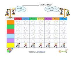 Blank Fill In Custom Healthy Goal Printable Tracking Sheet