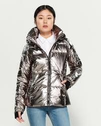 S13 Coat Size Chart Kylie Metallic Down Puffer Jacket C21