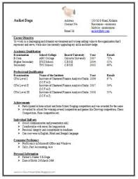 Resume Template of a Computer Science Engineer Fresher with Great ...
