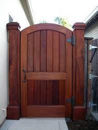 backyard gates fence design wood gate