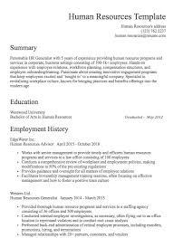Human Resources Resumes Human Resources Resume Samples Resume Com