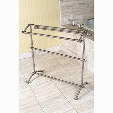 free standing towel rack brushed nickel. Kingston Brass Edenscape Free Standing Towel Stand Satin Nickel Inside Rack Brushed