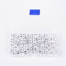 1 font b box b font alfabet akrylowe koraliki koraliki cube list e i o r