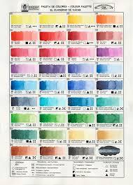Watercolor Palette Print Giclee Color Wheel Color Palette Colour Scheme Color Chart Colour Wheel Color Scale Schmincke Winsor Newton