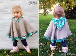 make this darling cat poncho for your little boy or girl it s fleece lined