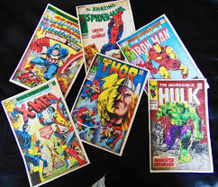 6 colour reion of marvel comic books covers only ideal for framing as wall art