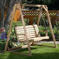 all things cedar a frame for porch swing stand support made by outdoor with baby fr